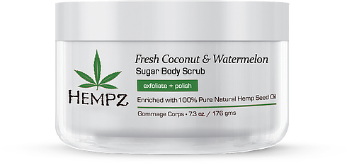 Hempz Fresh Coconut & Watermelon Herbal Sugar Body Scrub 7.3 oz