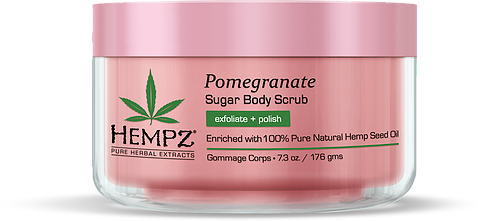 Hempz Pomegranate Herbal Sugar Body Scrub 7.3 oz