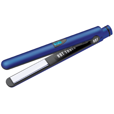 "Hot Tools Radiant Blue 1"" Digital Flat Iron with Titanium Plates"