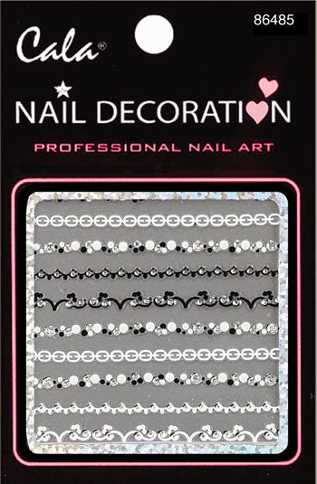 Cala Line Art Nail Decoration Sticker