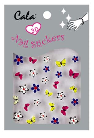 Cala 3-D Butterfly Nail Art Sticker