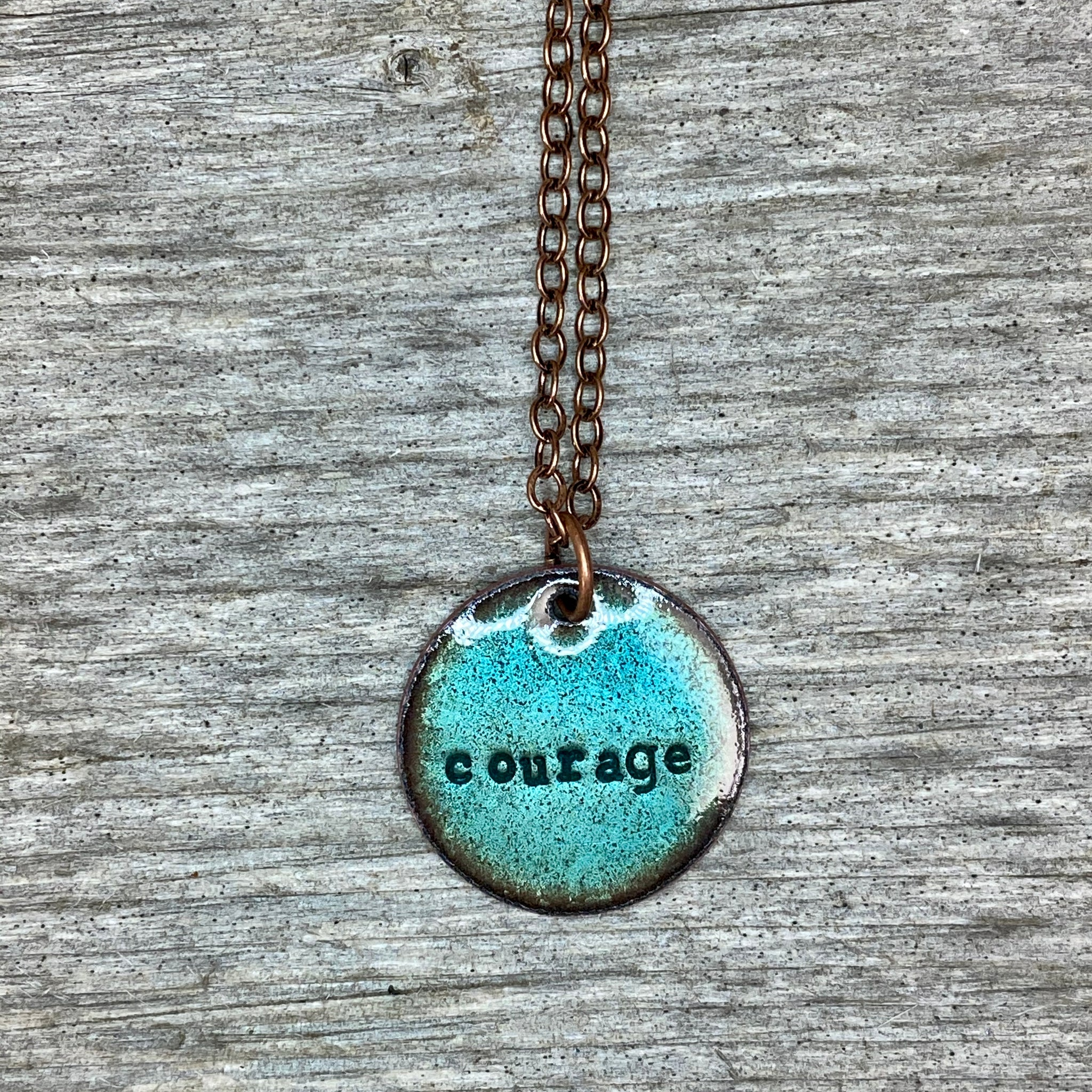 """Courage"" Necklace in Turquoise"