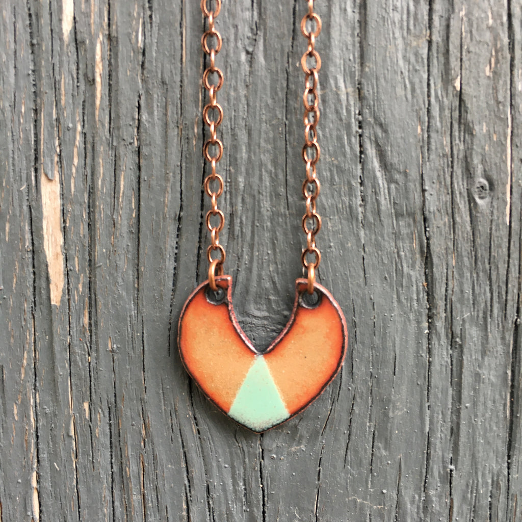 Triad Shield in Copper & Aqua