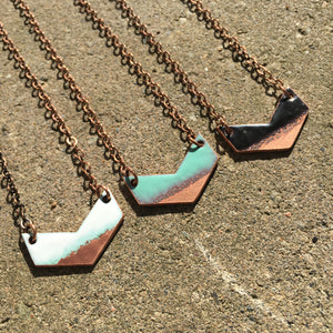 Mini Seafoam Chevron Necklace