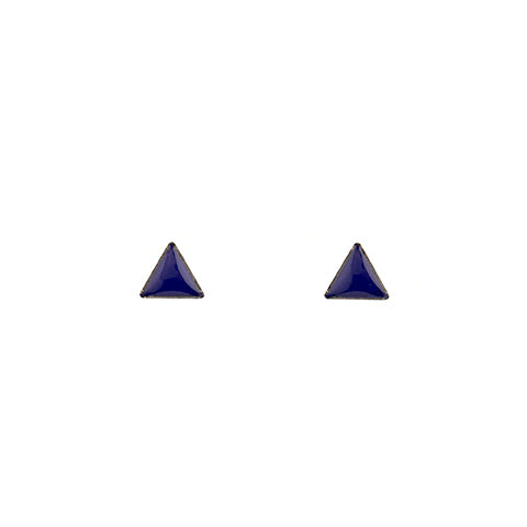 Tiny Triangle Stud Earrings in Royal