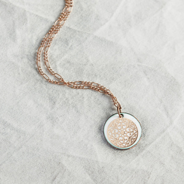 Filigree Necklace in White