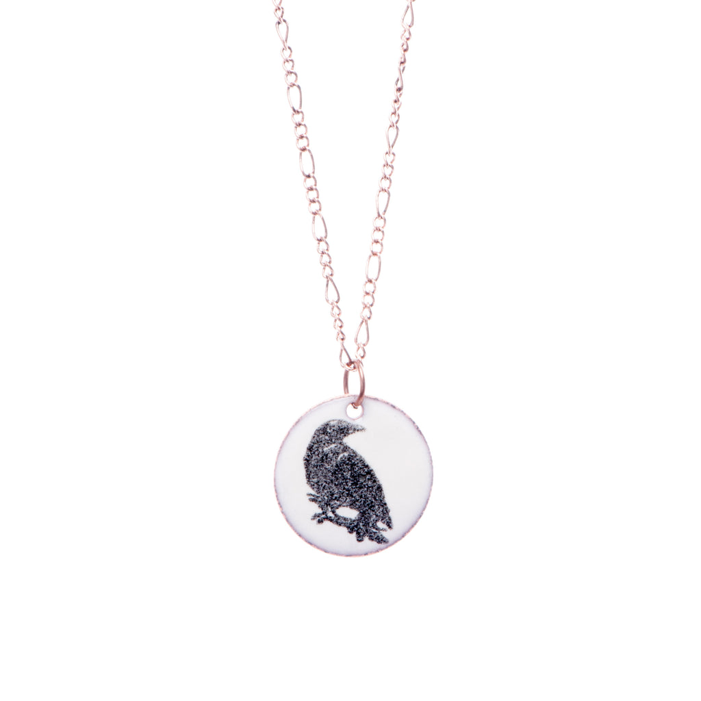 Crow Necklace in Ivory & Black