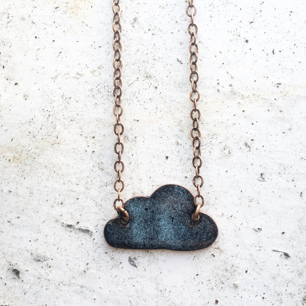 """Damn Fine Coffee"" Necklace in Sky Blue"