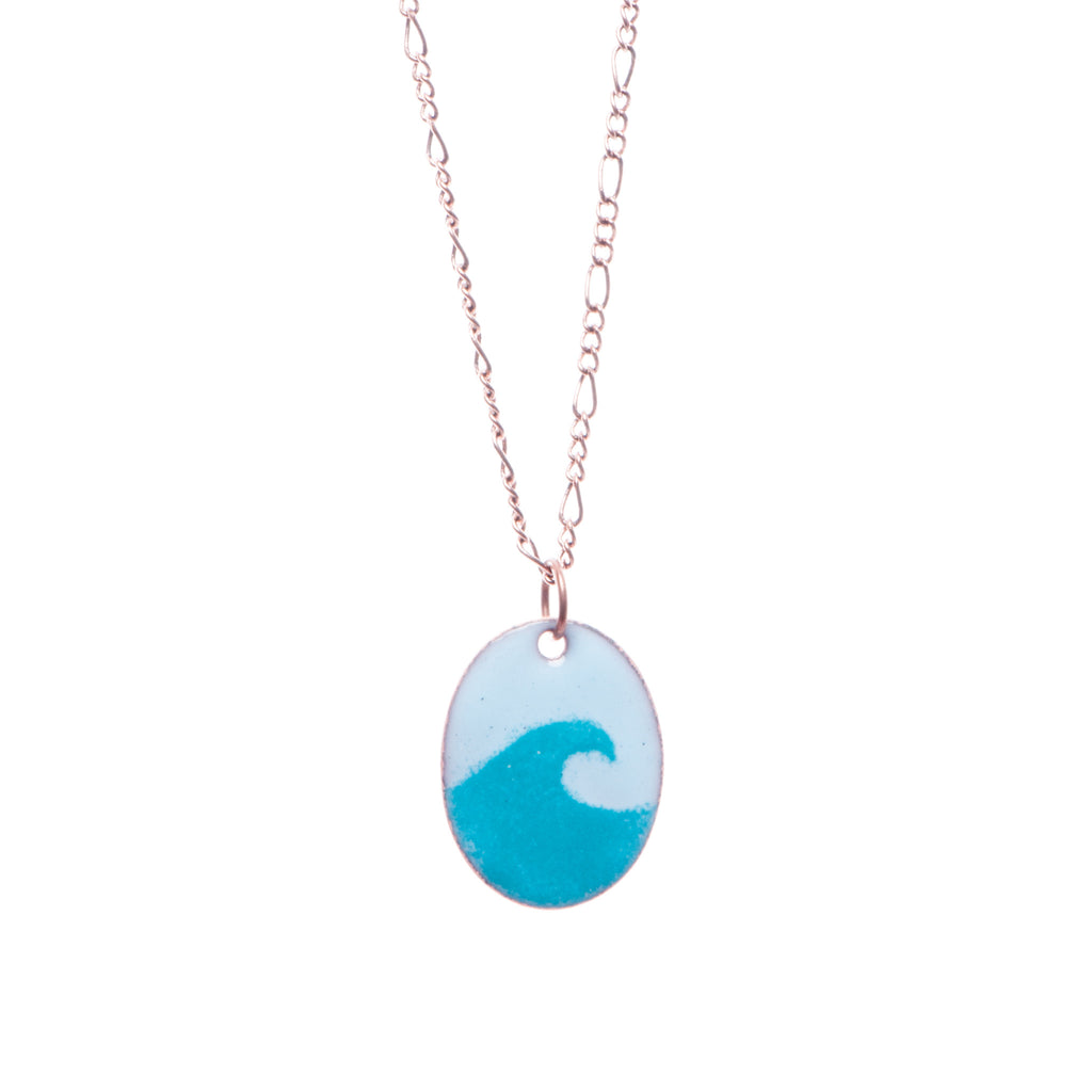 Wave Necklace in Turquoise & Sky Blue