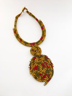 Circle Shweshwe Necklace