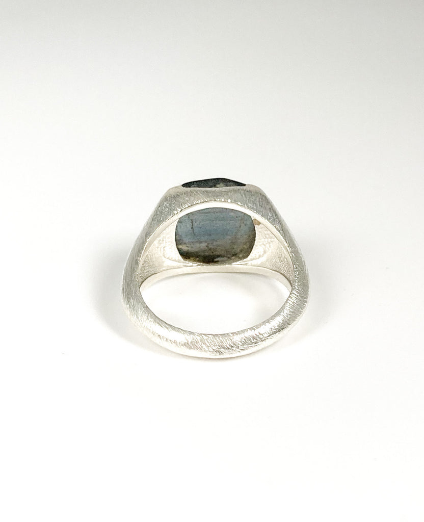 Raised Signet Ring Silver