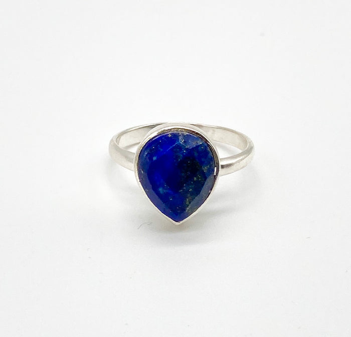 Anvil Ring with Lapis Lazuli