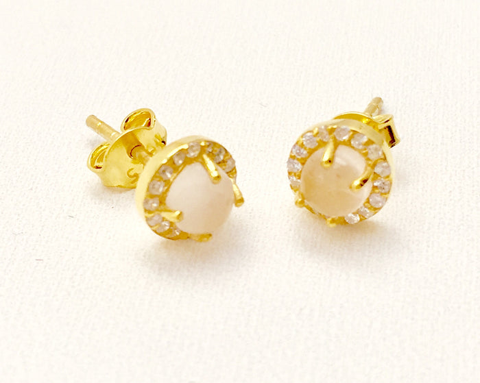 Rose Bloom Studs Gold