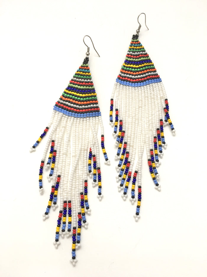 Feathered Bead Earrings
