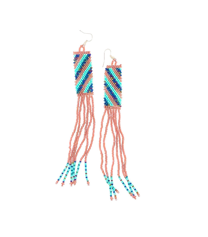 Nthabi Earrings Rose and Turquoise