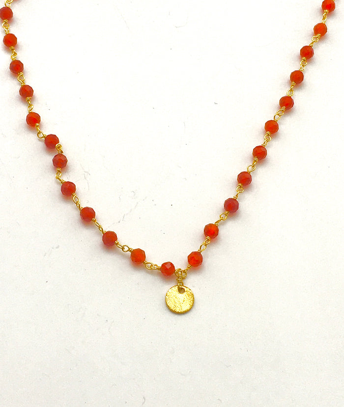 Carnelian Infinity Necklace