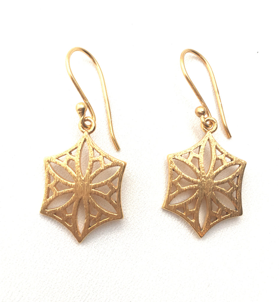 Colorado Snowflower Earrings in Gold