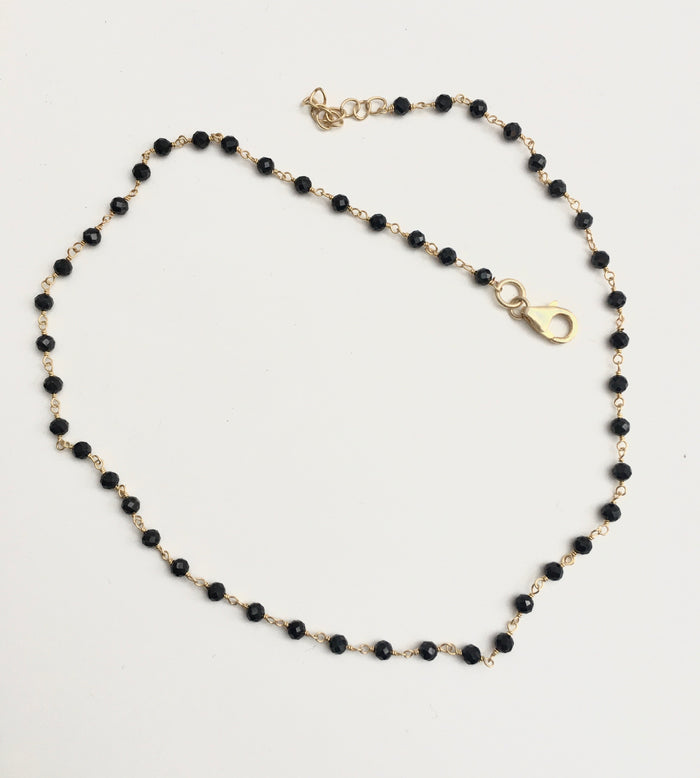 Black Spinel Infinity Necklace