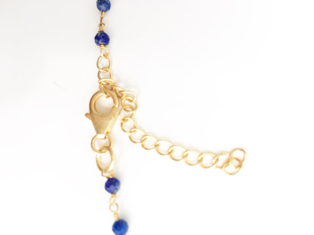 Lapis Infinity Necklace