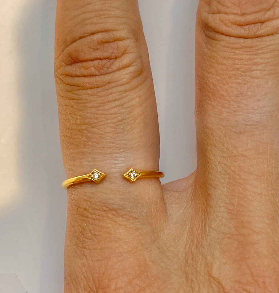 Open Heart Ring Gold