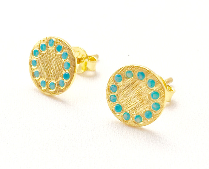 Shield Studs in Gold