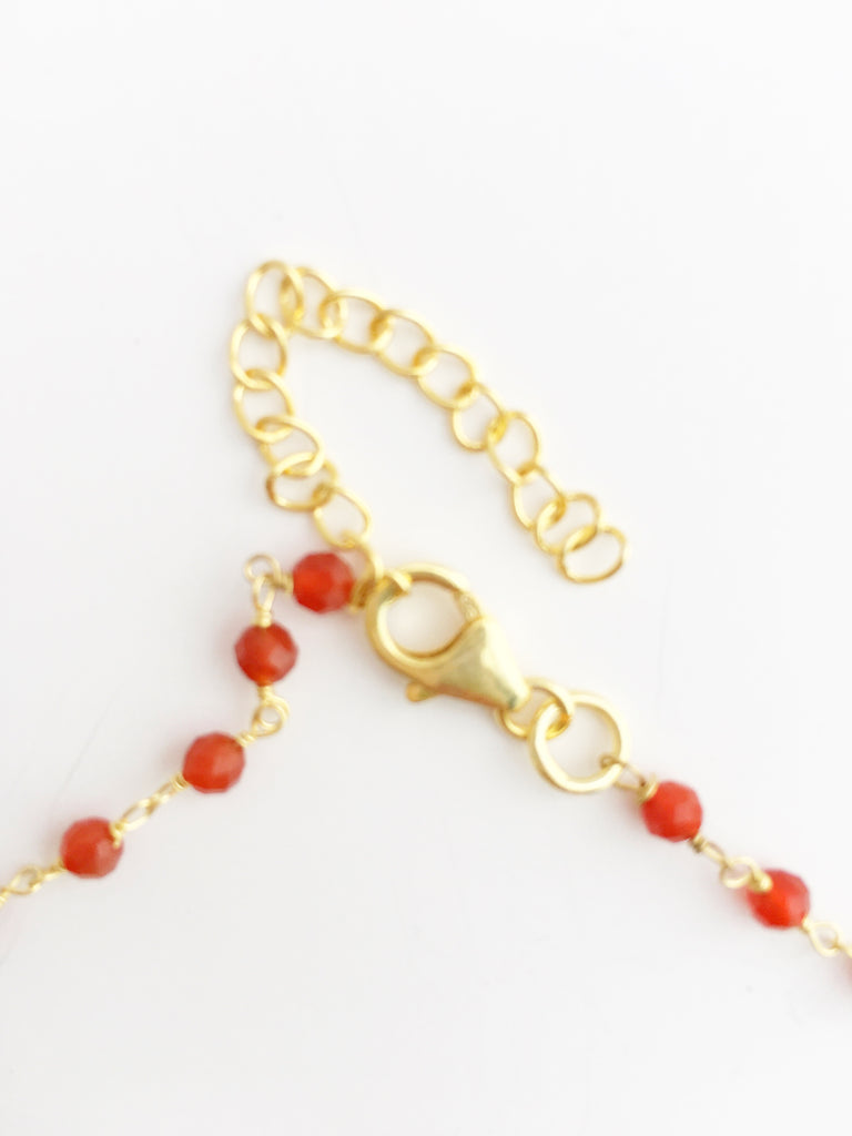Carnelian Coin Necklace