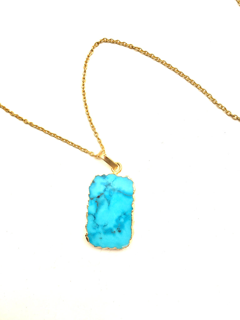 Slice of Turquoise Necklace