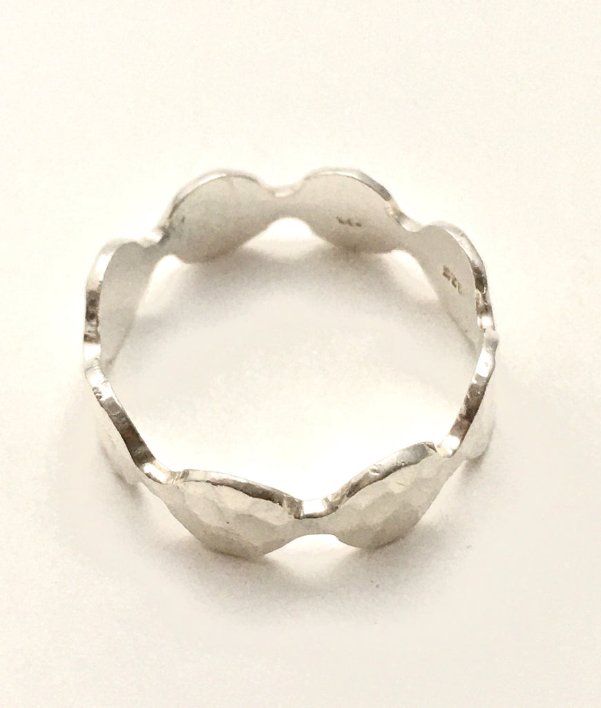 Hammered Ring in Silver