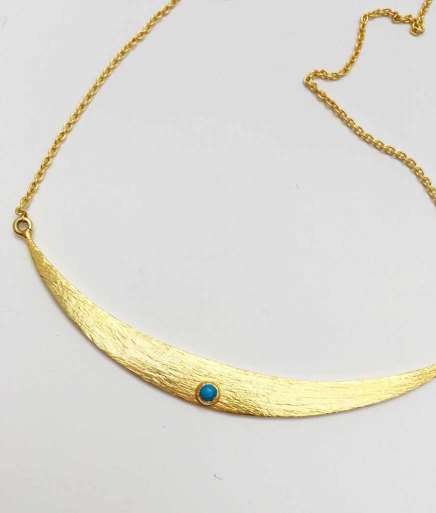 Shield Maiden Necklace in Gold