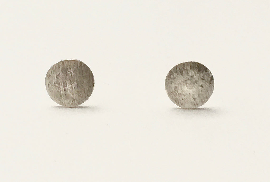 Mini Brushed Stud in Silver