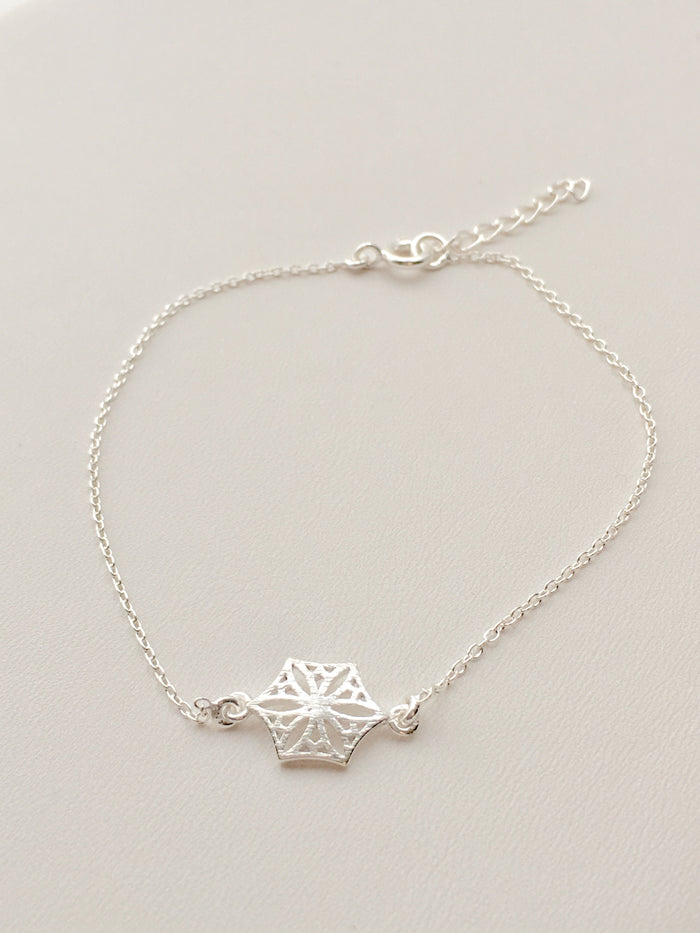 Colorado Snowflower Bracelet in Silver