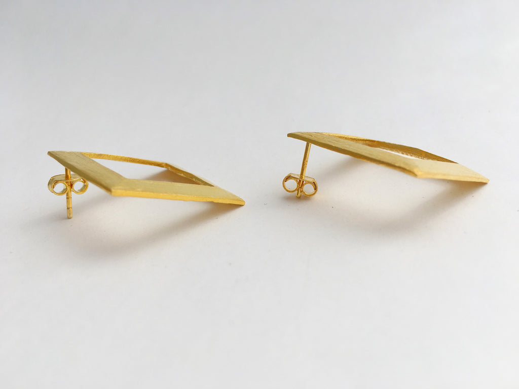 Thora's Square Earrings in Gold