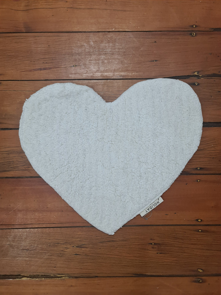 HEARTBREAKER BATHMAT - OFF WHITE