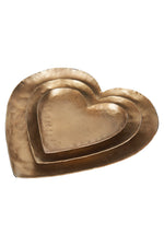 LUXE HEART SET - BRASS