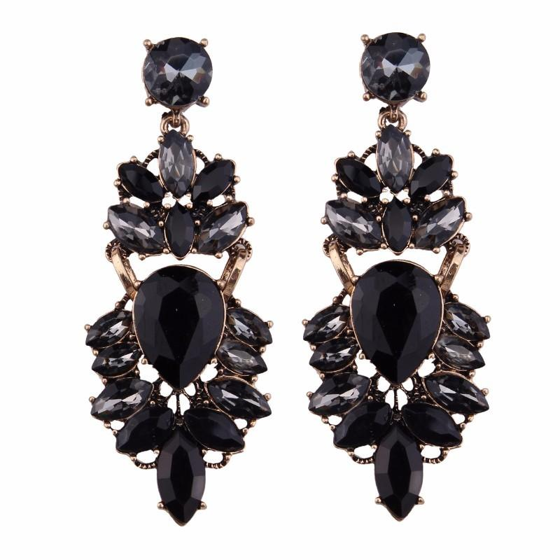 Large Bling Earring Black
