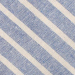 BLUE AND WHITE STRIPE LINEN BOW TIE