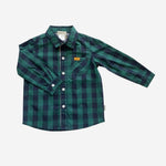 DRESS SHIRT - NAVY/TURQUOISE CHECK