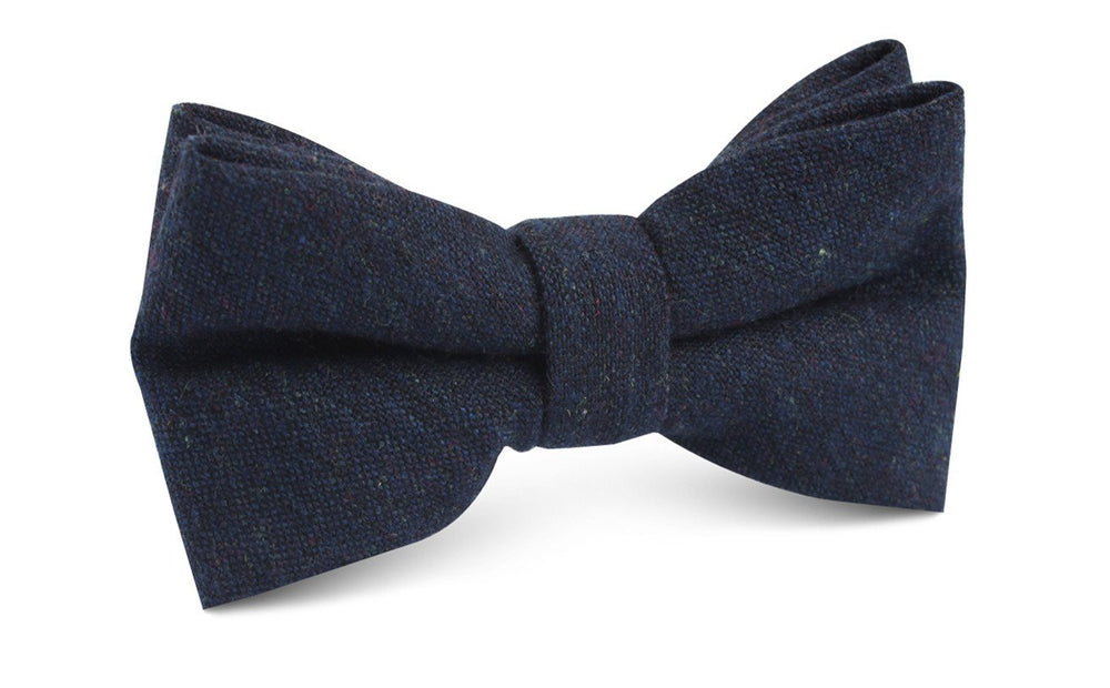 NAVY WOOL BOW TIE