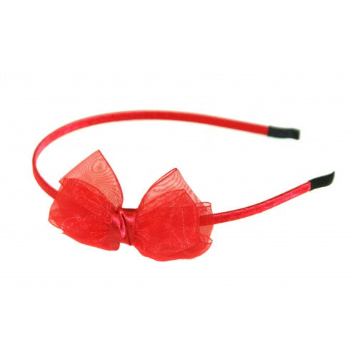 CHIFFON SATIN BOW ALICE BAND
