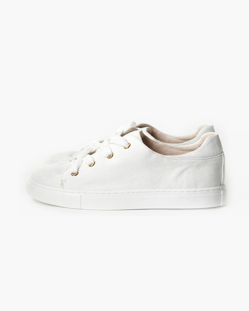 HARRIET CANVAS SNEAKER - WHITE