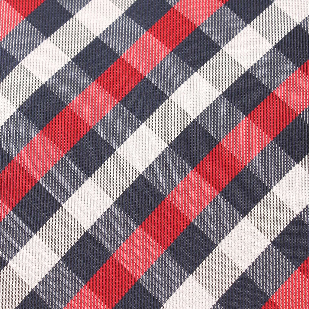 RED NAVY AND WHITE CHECKERED BOW TIE