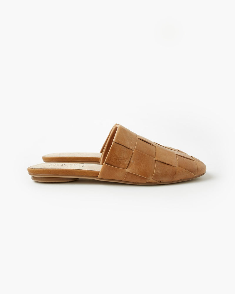 ROMMI LEATHER MULE - TAN