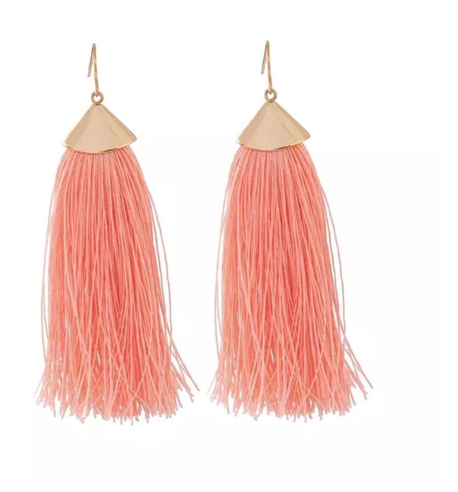 TASSEL EARRINGS PEACH