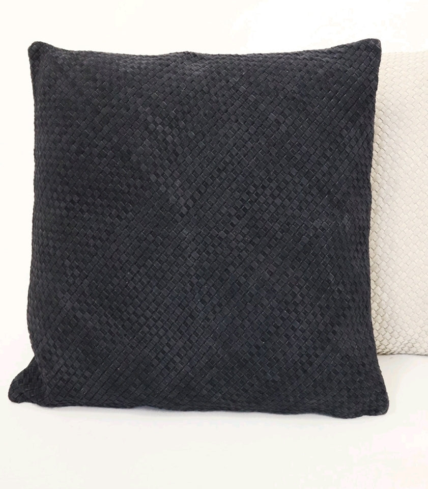BRAIDED CUSHION - SLATE SQUARE
