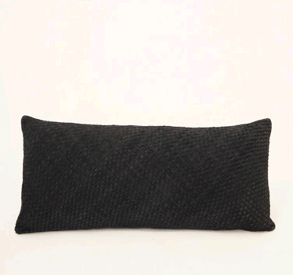 BRAIDED CUSHION - SLATE RECTANGLE