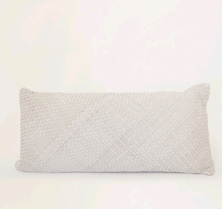 BRAIDED CUSHION - ECRU RECTANGLE