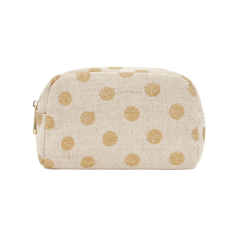 SMALL COSMETIC BAG - GOLD SPOT