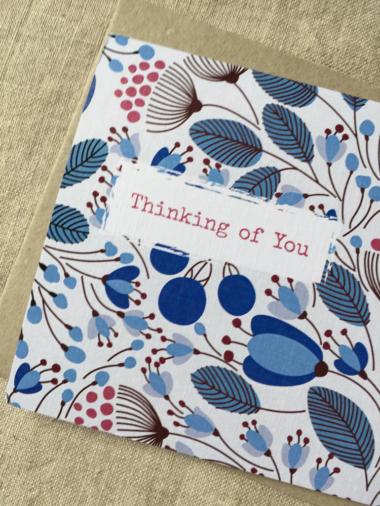 BLUE GARDEN THINKING OF YOU CARD