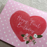 GIRL'S FIRST BIRTHDAY CARD