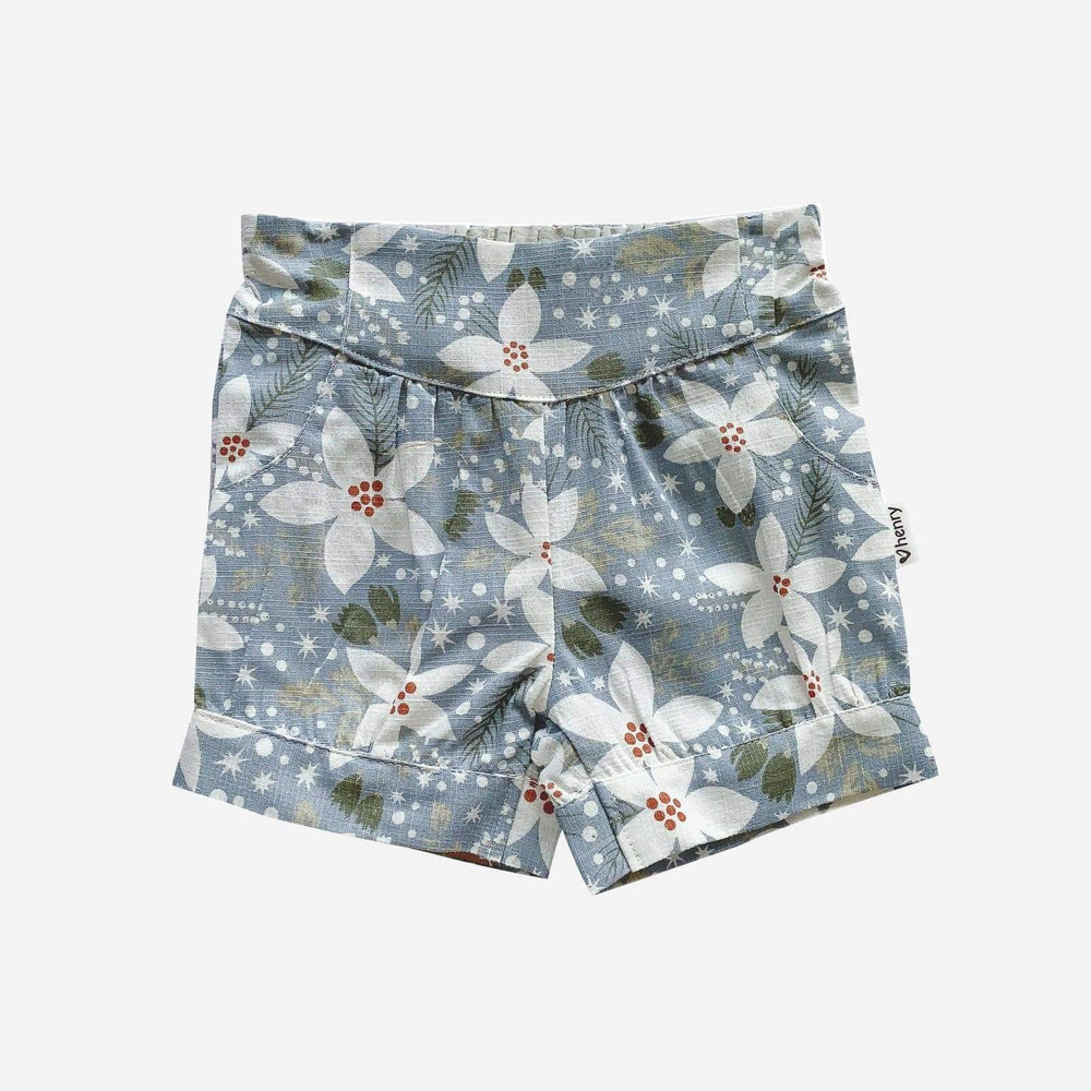 LUCY SHORTS - LARGE BLUE FLORAL